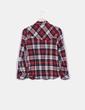 Chemise rouge et grise à carreaux Easy Wear
