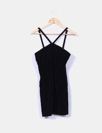 Vestido terciopelo negro Claudia Larreta