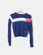 Pull bleu marine avec motif rayé XDYE