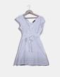 Vestido blanco con topos Emonite