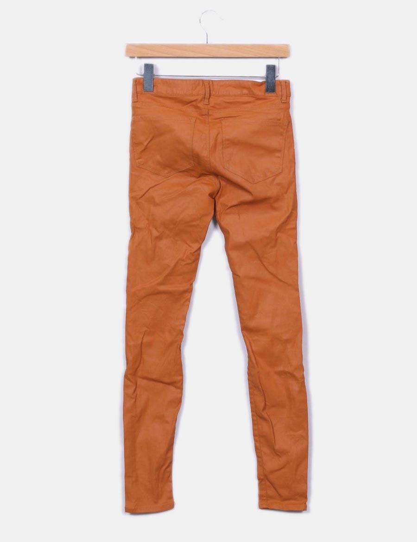 91f83b22a Pitillo Baratos Pantalones Jeans Camel Encerado Sxy4qfa Zara Mujer ...