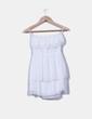 Vestido mini blanco palabra de honor con volante escote H&M