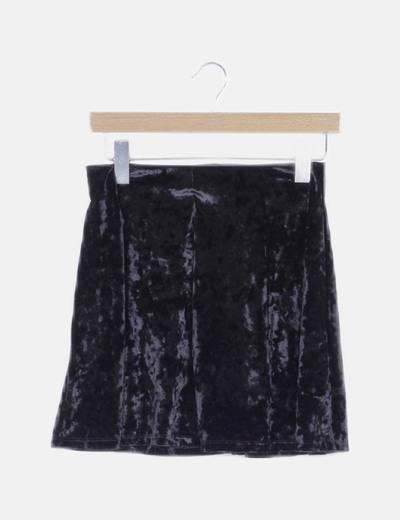 Falda mini negra terciopelo