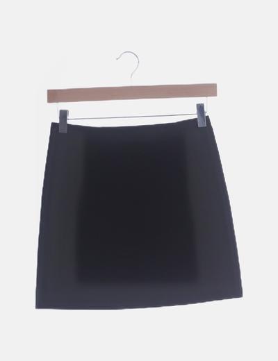 Falda negra de gasa