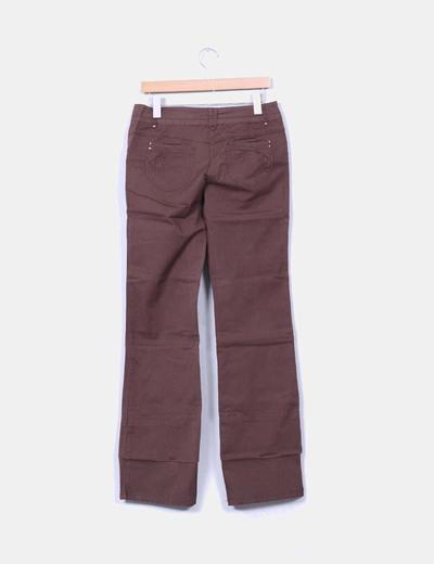 Pantalon marron recto