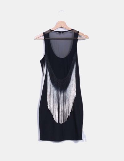 Vestido negro ajustado bershka