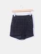 Shorts tweed negros con tachas H&M