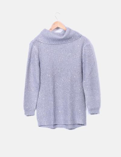Pull gris avec pailettes Easy Wear