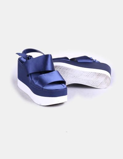Sandalias azul con plataforma