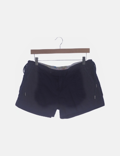 Short azul lace up