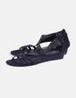 Sandales noires diamante Éram