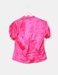 Camisa rosa de raso mangas drapeadas NoName