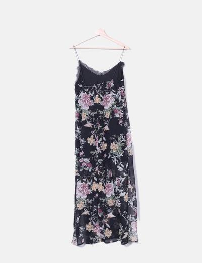 Maxi vestido lencero floral