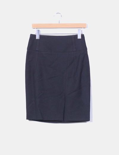 Falda  negra de tubo  Zara