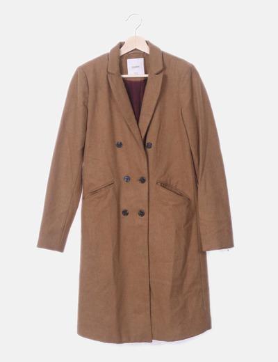 Abrigo masculino marrón