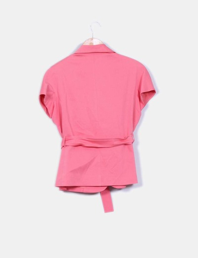 Chaqueta rosa manga corta
