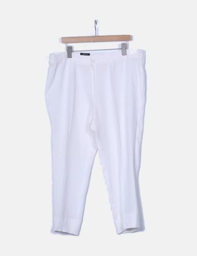 Pantalón de traje blanco