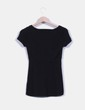 Jersey de punto negro sin mangas Hilfiger Denim