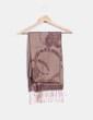 Foulard marrón con estampado floral NoName