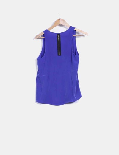Blusa azul klein cremallera trasera