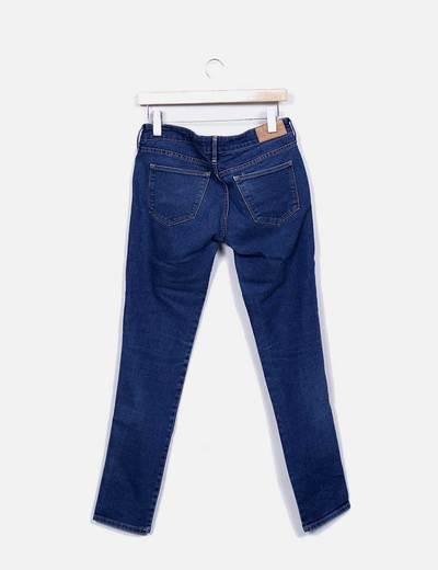 Jeans denim skinny tiro bajo