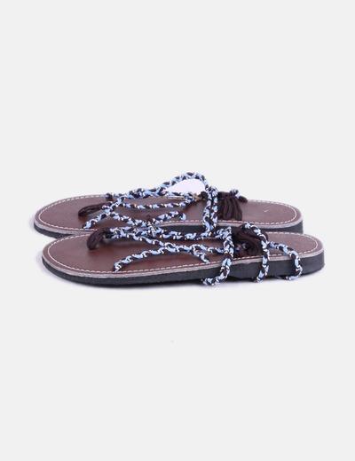 Sandalias lace trenzadas