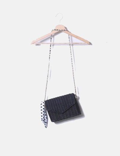 Bolso mini cesta negro Zara