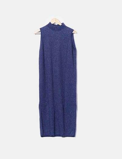 Maxi vestido glitter azul