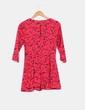 Vestido mini rojo estampado Bershka