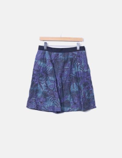 Minifalda denim floral Oltre