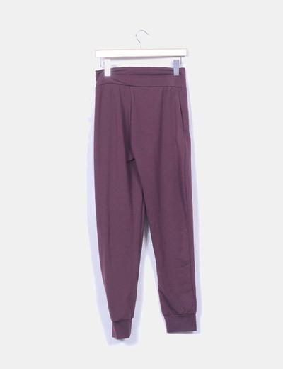 Pantalon baggy burdeos