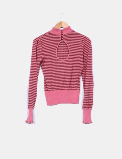 Jersey rosa de rayas