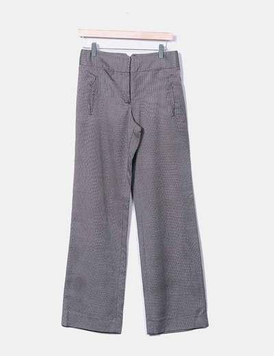 Pantalón chino gris estampado