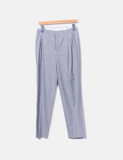 Pantalón traje espiga gris Zara
