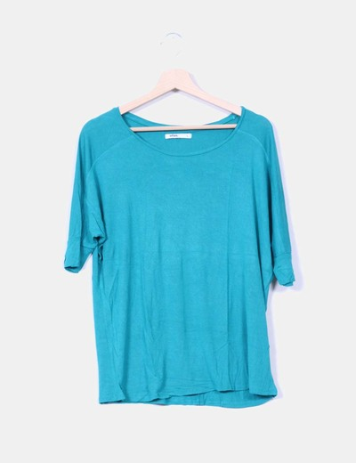 Camiseta verde fluida Lefties