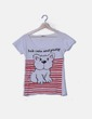 Camiseta blanco print perro Inside