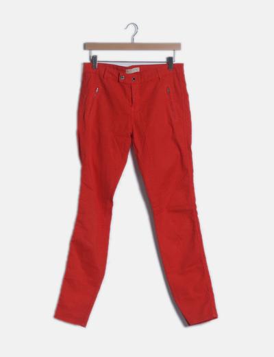 Pantalón rojo animal print