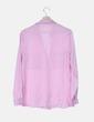 Camisa rosa satinada Mango
