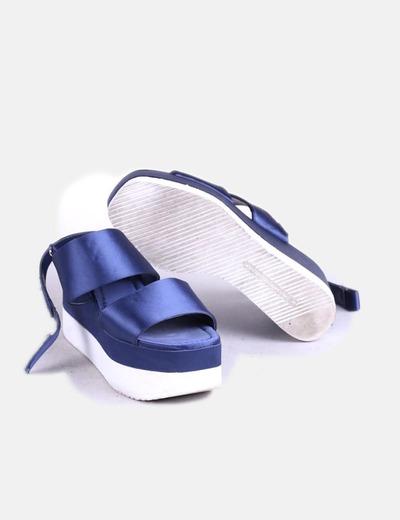 Satén Marino Marino Azul Satén Sandalias Azul Plataforma Plataforma Sandalias Satén Plataforma Azul Sandalias QdCxBreWo