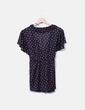 Blusa negra estampada H&M
