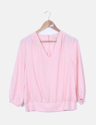 guapo vende muy barato Nueva York descuento en venta retro blusa rosa palo manga larga ...