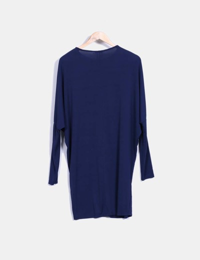 Vestido viscoso azul marino