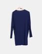 Vestido viscoso azul marino IRIS