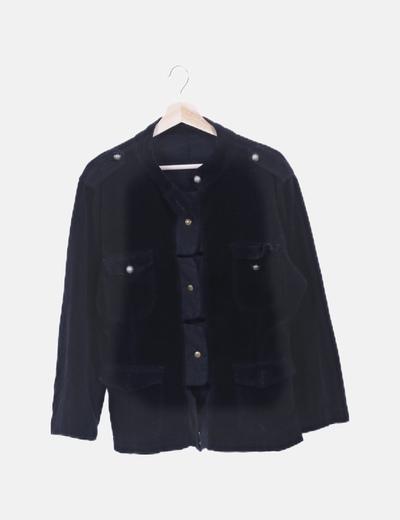 Chaqueta negra velvet