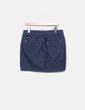 Falda azul de pana Cache Cache