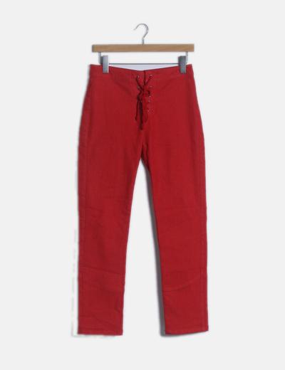 Pantalón rojo lace up