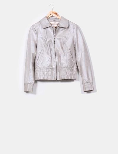 Chaqueta gris plata Vero Moda