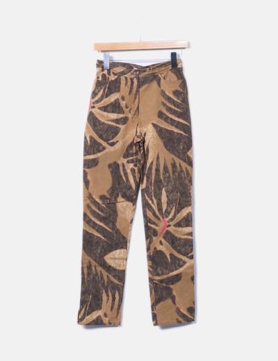 Jeans camel estampados Charo Azcona