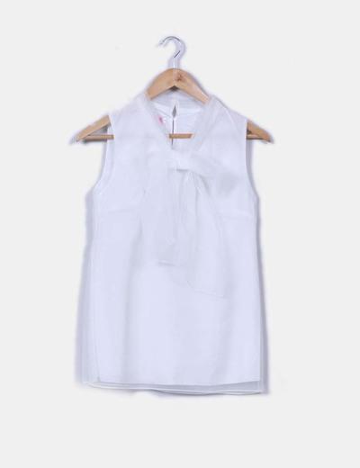 Blusa lazo blanca Mei Yi Zu