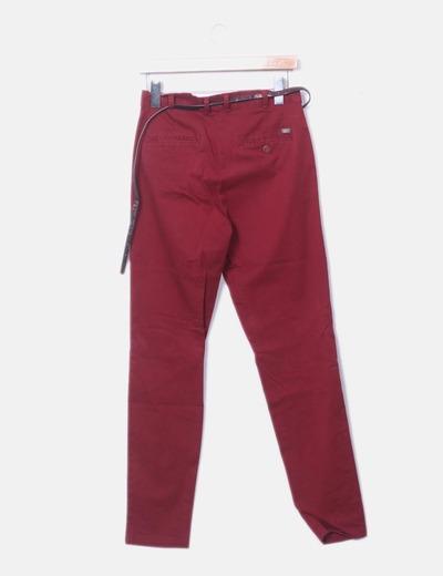 pantalon burdeos zara